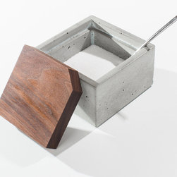 Milton Concrete Box - This handsome concrete box and its walnut lid will keep your jewelry safe and sound. Place it on your bathroom counter for easy access to your favorite belongings.