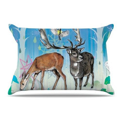 """Kess InHouse - Mat Miller """"Glade"""" Pillow Case, Standard (30"""" x 20"""") - This pillowcase, is just as bunny soft as the Kess InHouse duvet. It's made of microfiber velvety fleece. This machine washable fleece pillow case is the perfect accent to any duvet. Be your Bed's Curator."""