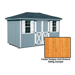 Fifthroom - Cedar Tongue & Groove Hip Roof Sheds -