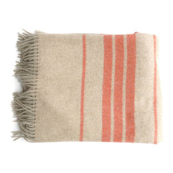 Linen Way orange stripe throw - Linen Way is a family-owned business based out of Ontario. Their eco-friendly home textiles are made entirely from sustainable, renewable and recyclable fibers.