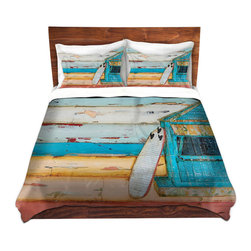 DiaNoche Designs - Duvet Cover Microfiber by Danny Phillips - Sun.Fun.Young - DiaNoche Designs works with artists from around the world to bring unique, artistic products to decorate all aspects of your home.  Super lightweight and extremely soft Premium Microfiber Duvet Cover (only) in sizes Twin, Queen, King.  Shams NOT included.  This duvet is designed to wash upon arrival for maximum softness.   Each duvet starts by looming the fabric and cutting to the size ordered.  The Image is printed and your Duvet Cover is meticulously sewn together with ties in each corner and a hidden zip closure.  All in the USA!!  Poly microfiber top and underside.  Dye Sublimation printing permanently adheres the ink to the material for long life and durability.  Machine Washable cold with light detergent and dry on low.  Product may vary slightly from image.  Shams not included.