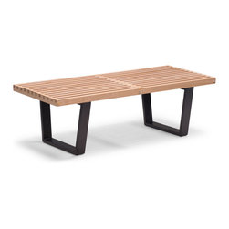 Zuo Modern - Heywood Single Bench - A classic of Mid-Century Modernism, the Heywood bench is beautiful yet utilitarian. Made of a natural wood top.