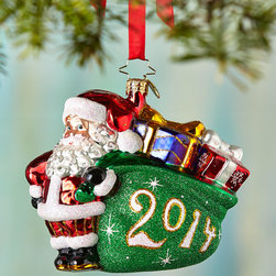 """Christopher Radko - A Jolly Year Christmas Ornament - Christopher RadkoA Jolly Year Christmas OrnamentDetailsMade of glass.Hand painted.5""""T.Made in Poland.Designer About Christopher RadkoFor more than 20 years Christopher Radko has been designing and producing handmade ornaments gifts and home decor for every special occasion and season that the calendar brings. His creations have become collectors' items favored gifts and keepsakes among those who give and receive them in celebration of life's milestones and memorable occasions."""