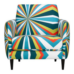 Parlour Bold Chair - I've never seen so much color on a single chair. If your room needs personality, this guy has plenty of it.