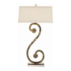 """Arteriors - Arteriors Home - Climping Table Lamp - DR12017-660 - Arteriors Home - Climping Table Lamp - DR12017-660 Features: Climping Collection Table LampIron FinishIron Material lamp bodyAcrylic Base materialLinen shade , Cotton lining and trim Shade materialOn and Off pull chain Switch type. At socket Switch location2-Prong, polarized Plug typeA - E26 Socket typeHand crafted. UL and CUL listed. Accommodates 100W max A15 Incandescent bulbs not included. Wired for 110V - 120V Some Assembly Required. Dimensions: 18"""" W X 11"""" D X 33"""" H"""