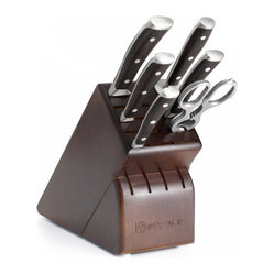 Wusthof Ikon Blackwood Seven Piece Block Set