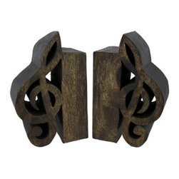 Online shopping for furniture decor and home improvement - Treble clef bookends ...