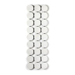 Retro Dots Mirror - Add a pop of swanky style to your walls with this Retro Dots Mirror.  Featuring a smart pattern of chic white dots, it's sure to spark conversation or admiration from passersby.