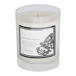 EJH Brand - Wild Rose Candle - Decorate your home to delight all your senses through the influence of fragrance. All-natural coconut wax and 100 percent pure essential oils go into this incomparable candle, with the sweet wild rose scent having mood-lifting, tension-calming properties.