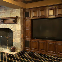 Fireplace Cabinetry and Media Cabinetry in the Study, Den or Library - Family Room, Home Office, or any room of the house. This Traditional Fireplace Mantle and Media Center is Uniquely Ayr. All Cabinetry is manufactured by Ayr Custom Cabinet Company in Nappanee, Indiana.