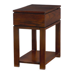 """Hammary - Chairsides Chairside Table - Coffee - """"Enjoy the best of style without sacrificing the best in functionality. That's exactly what you'll receive when you select from Hammary's assortment of extraordinary Chairside tables - the perfect complement in any living area."""