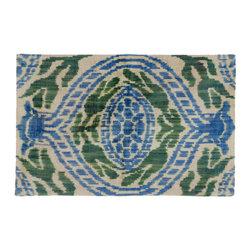 "Metrohouse Designs - ""Consigned"" Vintage Silk Velvet Ikat Throw Pillow - Size: 14.0"" x 22.0"""