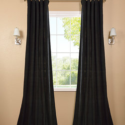 Black Hand Weaved Cotton Curtain - The Hand Weaved Cotton curtains & drapes add a casual and warm look to any window. These drapes are tailored from the finest hand loomed cotton blend