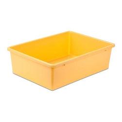 Large Plastic Bin, Yellow - Honey-Can-Do PRT-SRT1602-LgYlw Large Plastic Bin, Yellow.
