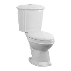 "Renovators Supply - Toilets White Sheffield Round Toilet Dual Top Flush | 13752 - Dual Flush Toilets Sheffield Top Flush: By using Dual Flush technology the EPA estimates homeowners save up to 25,000 gal. of water a year. How? Use 0.8 LOW flush for liquids and 1.6 HIGH flush for solid waste. Control your water usage to SAVE money and conserve water. Our G-Force high efficiency flush system technology lets you flush only ONCE! Eliminate the need to double flush. Ergonomic easy height and round bowl makes using it safer by putting less strain on your body. Includes SAFE and QUIET ""No-Slam"" plastic toilet seat and EASY top flush plastic faux chrome button. Measures 31 3/4 inch H x 25 1/2 inch projection"