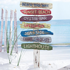 Tropical Outdoor Decor Beach Signs on a Stake