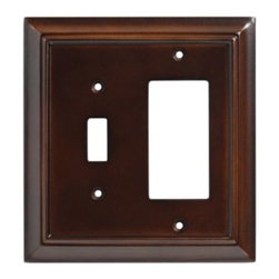 Liberty Hardware - Liberty Hardware 126382 Wood Architectural WP Collect 5.51 Inch Switch Plate - The Liberty Architectural Wood 2-Gang Espresso Switch/Decorator Combination Wallplate is made from MDF for durability and houses 1 toggle switch and 1 GFCI or rocker switch. Mounting hardware is included. Width - 5.51 Inch, Height - 5.2 Inch, Projection - 0.4 Inch, Finish - Espresso, Weight - 0.26 Lbs.
