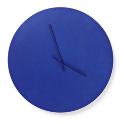 Menu - Steel Wall Clock, Blue - Norm Steel Wall Clock is a light and simplistic clock with steel hands - designed by the Copenhagen-based simplicity lovers at Norm Architects. The clocks are available in 4 different soft Scandinavian colors, some of them with matching colored hands, others with clean steel hands.