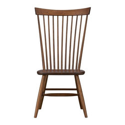 Marlow Side Chair | Crate&Barrel - This is a traditionally classic dining chair, but the high back and simple spindles allow it to fit into contemporary rooms with ease.