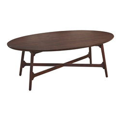 Hammary - Hammary Mila Oval Cocktail Table in Burnished Copper - Oval Cocktail Table in Burnished Copper belongs to Mila Collection by Hammary Cocktail Table (1)