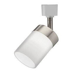 Lithonia Lighting Cylinder Glass 1-Light 2.6 in. Brushed Nickel Track Lighting L
