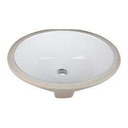Hardware Resources - H8809WH Porcelain Sink - Undermount Porcelain Sink