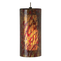 LBL Lighting - LBL Lighting Abbey Grande Amber-Red 75W 1 Light Foyer Pendant - LBL Lighting Abbey Grande Amber-Red 75W 1 Light Foyer PendantMake a bold statement with this stunning stained glass style large pendant featuring Amber-Red glass. Opal inner glass gives off a soft glow with the included 75 watt medium base incandescent bulb.LBL Lighting Abbey Grande Amber-Red 75W Features: