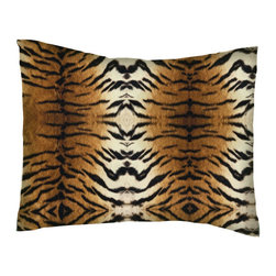 SheetWorld - SheetWorld Twin Pillow Case - Percale Pillow Case - Tiger - Made in USA - Pillow case is made of a durable all cotton percale material. Fits a standard twin size pillow. Features a Tiger print.