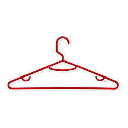 Honey Can Do - 60 Pack Recycled Plastic Hangers- Red - 60 Pack. 11.81 x 5.31 in.