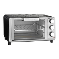 Cuisinart - Cuisinart TOB-80 Compact Toaster Oven Broiler - The brushed stainless steel housing of the Cuisinart Compact Toaster Oven Broiler is compact and counter-friendly at a 0.35 cubic-foot capacity. The nonstick interior holds four slices of bread or a nine-inch pizza.