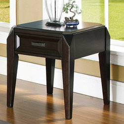 Steve Silver Furniture - Steve Silver Wellington End Table - The Wellington End table conveys a sophisticated look that is sure to catch your eye. With distinctive features and a rich cherry finish this end table is an excellent addition to any room.