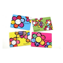 Flower Placemats - Bright modern designs will perk up any kitchen — love that they're made from wood!