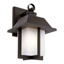 Trans Globe Lighting - The Standard Black Pagoda Cap 12-Inch Wall Mount with Rectangle White Frosted Gl - - East meets West with this garden landscape and entry collection. Add all matching accent lighting for the whole home. Pair with ledge stone sided porch areas and homes for stunning ambience.  - 1 Light Wall Light Outdoor  - Weather resistant cast aluminum  - Lantern ring is welded to wall bracket to prevent breakage from wind  - Open at bottom for directional light over porch areas  - Asian inspired complete landscape lantern collection  - Material; Cast Aluminum  - Bulbs not included Trans Globe Lighting - 40111 BK