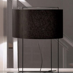 """Metalarte - Lewit m black table lamp - Catalog Featured - Product description:  The Lewit table lamp is designed by Jordi Veciana and is produced by Metalarte. Finished in metal, Lewit is available with a black body. Shade available in black. Please choose from three different sizes.       Details:                                  Manufacturer:               Metalarte                                  Designer:               Jordi Veciana                                  Made in:              Spain                                  Dimensions:                             Small:h: 15.75"""" (40 cm) X shade d: 11.75"""" (29.8 cm)X shade H: 6.5"""" (16.5 cm)              Medium: h: 18.5"""" (47 cm) x shade d: 14.2"""" (36 cm) x shade h: 7.9"""" (20 cm)                            Large: h: 23.6"""" (60 cm) x shade d: 17.8"""" (45 cm) x shade h: 9.8"""" (25 cm)                                                               Light bulb:                             Small: 1 X 60W Incandescent medium base type               Medium: 1 x 100W  Incandescent medium base type               Large: 1 x 100W Incandescent medium base type                            * bulbs not included                                                Material:               metal, cotton"""