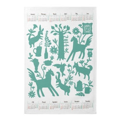 Otomi Kitchen Towel With 2014 Japanese Calendar 2 - Ring in the new year with an Otomi calendar!