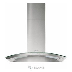 """Miele 36"""" Decor Wall Mount Hood - Designed without the clunkiness of so many hoods, this Miele model does the job with minimal shadow cast over your cooking."""