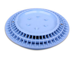 Color Match Pool Fittings - Pebble Top Pool Drain Cover, Light Blue, 8-Inch - Finally, no more ugly drain covers! You will love how our unique Pebble-Top Drain Cover blends in perfectly with your pool. Simply apply the same plaster, aggregate or tile being applied to your pool, directly to the top of our patented 8-inch drain cover for a perfect match.