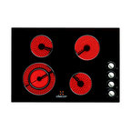 "Dacor Distinctive 30"" Electric Cooktop, Black Ceramic Glass 