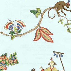 Chinoiserie Wallpaper - A fun and whimsical chinoiserie wallpaper from the book Stroheim And Romann Chinoiserie at AmericanBlinds.com.