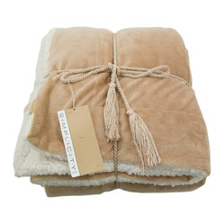 Soft Faux Fur Lambs Wool Throw, Camel