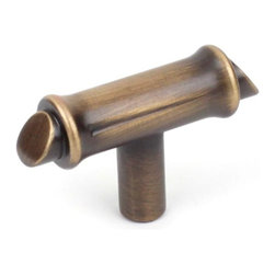 Century Hardware 27819-IB Cabinet Knob - Serenity Series - Imperial Bronze Finis - This imperial bronze finish T-style cabinet knob with bamboo design is a part of the Serenity Series from Century Hardware. A perfect blend of craftsmanship in traditional and contemporary design to complement any decor.