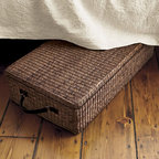 Under Bed Storage Box With Lid, Dark Brown - Utilize the space you see — and the space you don't. This basket makes wonderful storage for under the bed, but it is also pretty enough to be visible. You can use it under a chair or couch too.