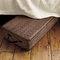 Under Bed Storage Box With Lid, Dark Brown