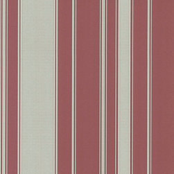 Cranberry Striped Wallpaper - Give your walls a traditional look with a modern flare with wallpaper from the Regent Collection by Brewster.