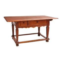 "18th Century Tyrolean Table, Austria, c. late 1700's - 60"" wide x 38"" deep x 30.5"" high, Base: 42.5"" long x 29.5"" wide x 29.5"" high"