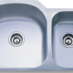 """Dowell - Dowell 31"""" x 20"""" Undermount Series Double Bowl Sink - 18/16 Gauge, 304 Series Stainless Steel"""