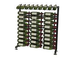 VintageView - VintageView 90 Bottle Half Aisle Wine Rack, Satin Black - A small metal wine rack from Vintage View. For space conscious retailers and homeowners looking for that contemporary wine rack appearance. Great as wall wine racks and as single-sided features. All the hardware is in the box! Including all fixtures and three WS33 racks.