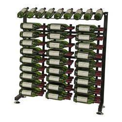 VintageView - VintageView 90-Bottle Half-Aisle Wine Rack - Here's the perfect rack for easy picking. Made of metal, it beautifully displays 90 bottles in your stellar cellar.