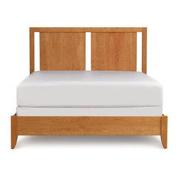 Copeland Furniture - Copeland Furniture Dominion Concord Queen Bed with Two Panel Headboard 1-CON-10 - Clean honest designs and thousands of options give Dominion unparalleled flexibility. With five distinct headboard designs, finishes, leather and hardware options Dominion melds seamlessly with almost any decor, expressing Copeland's unique design ethos - high quality domestic solid wood furniture, mixing traditional woodworking and modern technology for a soft, highly livable contemporary look.