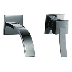 ALFI brand - ALFI brand AB1256 Single Lever Wallmount Bathroom Faucet, Brushed Nickel - Why compromise on style? This one of a kind wall mounted lever faucet by ALFI brand offers a space saving installation option while maintaining modern elegance.